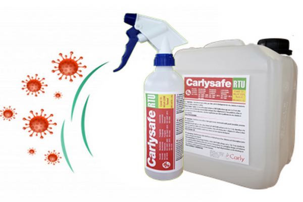 Covid 19:  Nouveau désinfectant virucide CARLYSAFE-RTU